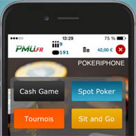 L'application poker pour iPhone sur le site PMU.fr